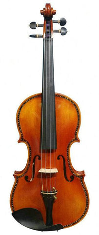 Wholesale Model SRV1016 Concert Grade Solid Spruce & Ebony Made Violin Different Sizes with Accessories