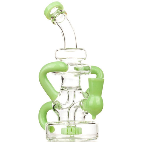 Green Recycler Dab Rig Pink Girly Fumed Glass Pipe Set | Free Shipping