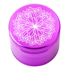Purple Carved Flower Weed/Herb Grinder 4Layer For Sale   Free Shipping