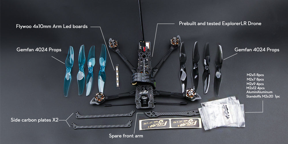 Flywoo BNF Explorer LR HD 4 Inch Micro Long Range Drone for Sale