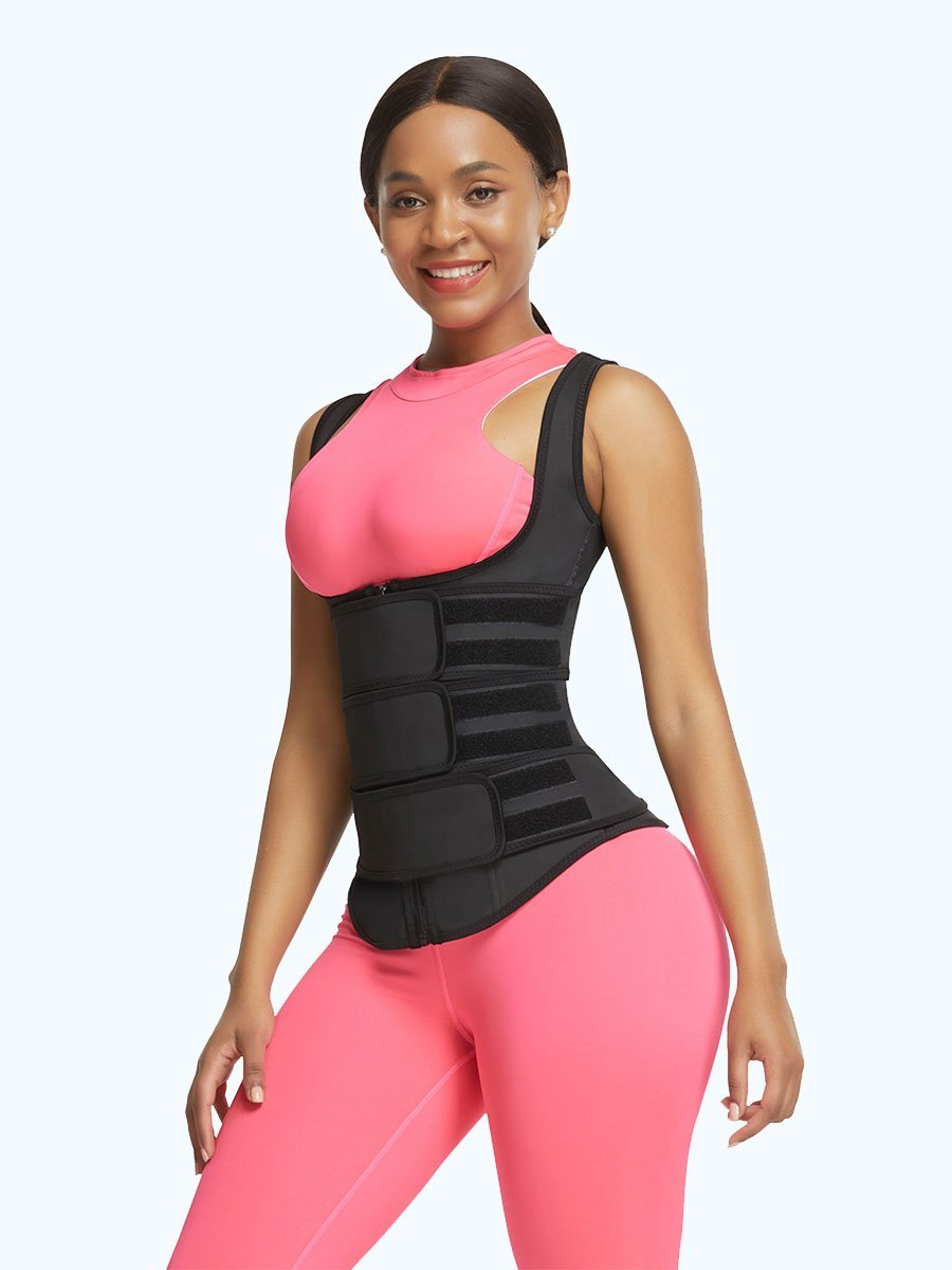 Loverbeauty Latex Waist Trainer Vest with Three Belts