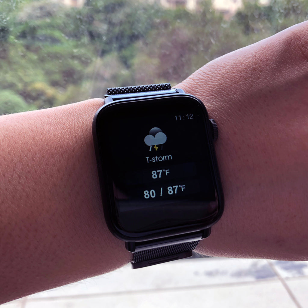 weather information smart watch