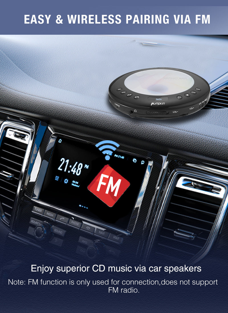 portable cd player for car