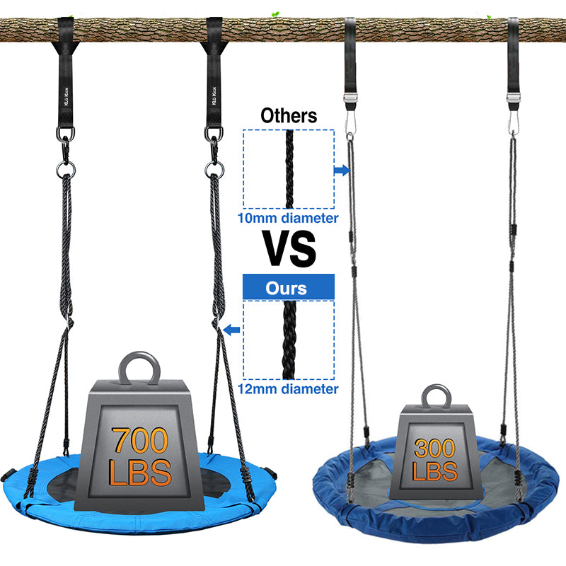 45 inch outdoor tree swing for kids