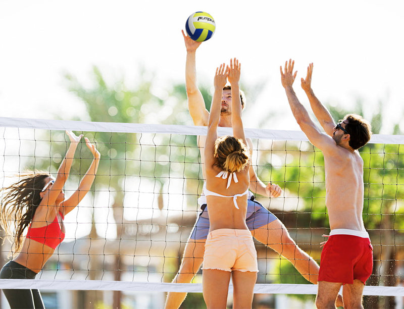how tall is a volleyball net