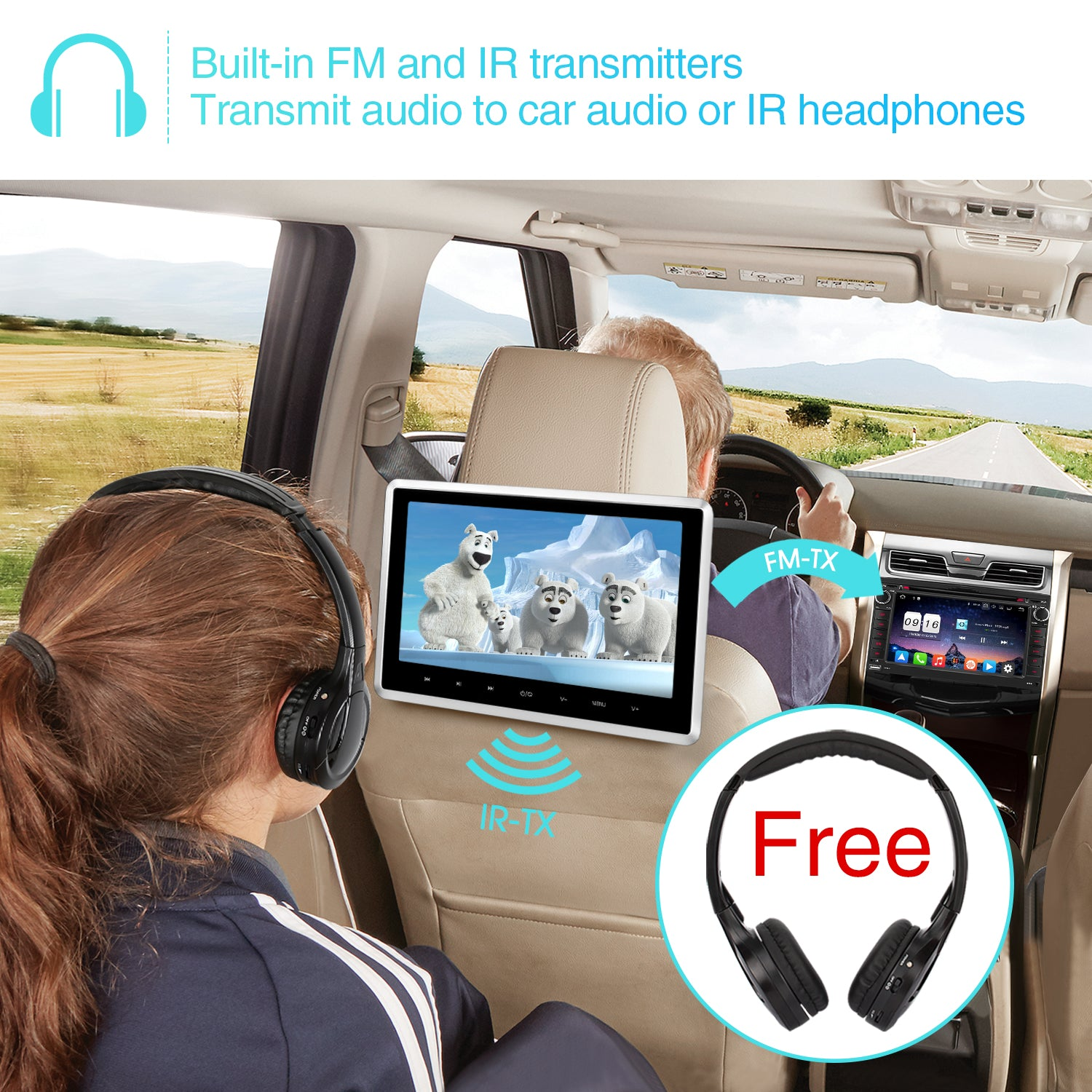 Headrest dvd player