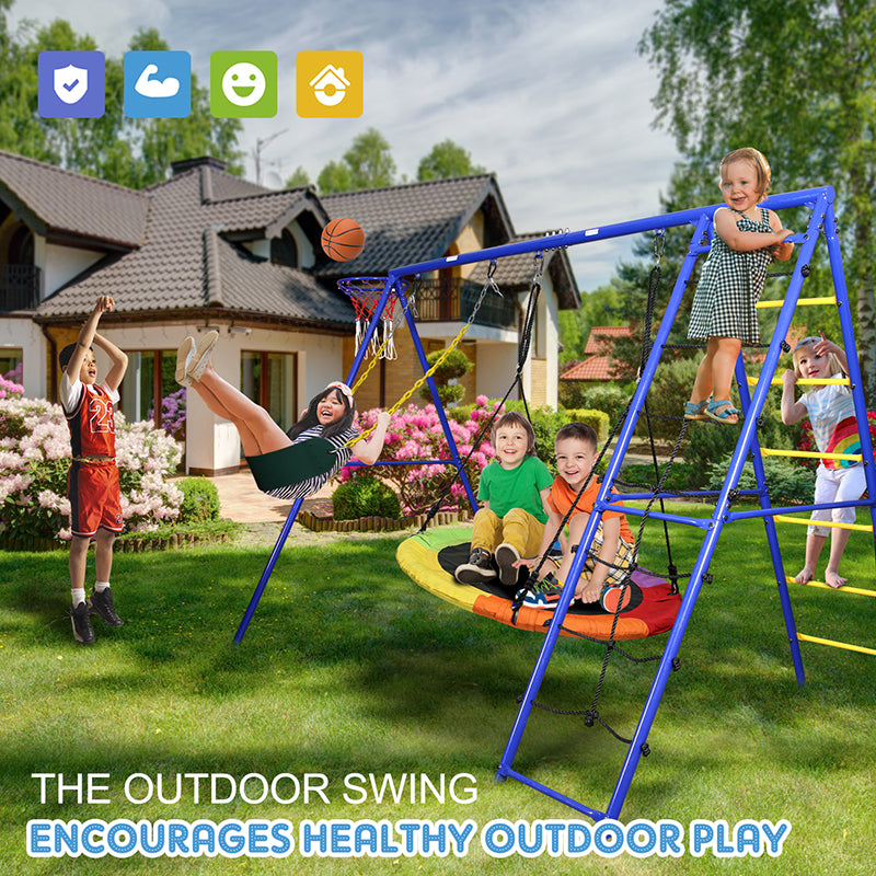 Swing Set with Ladder Climber