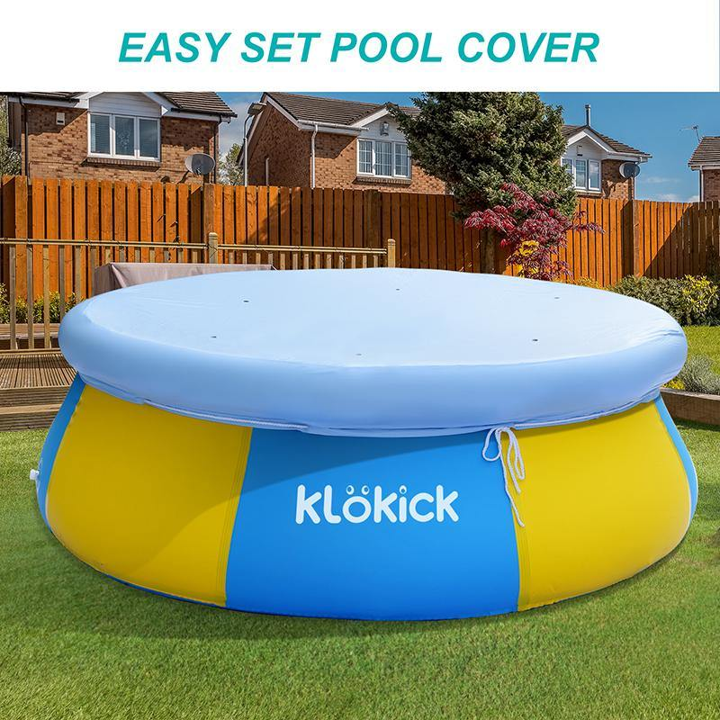 inflatable swimming pool with cover