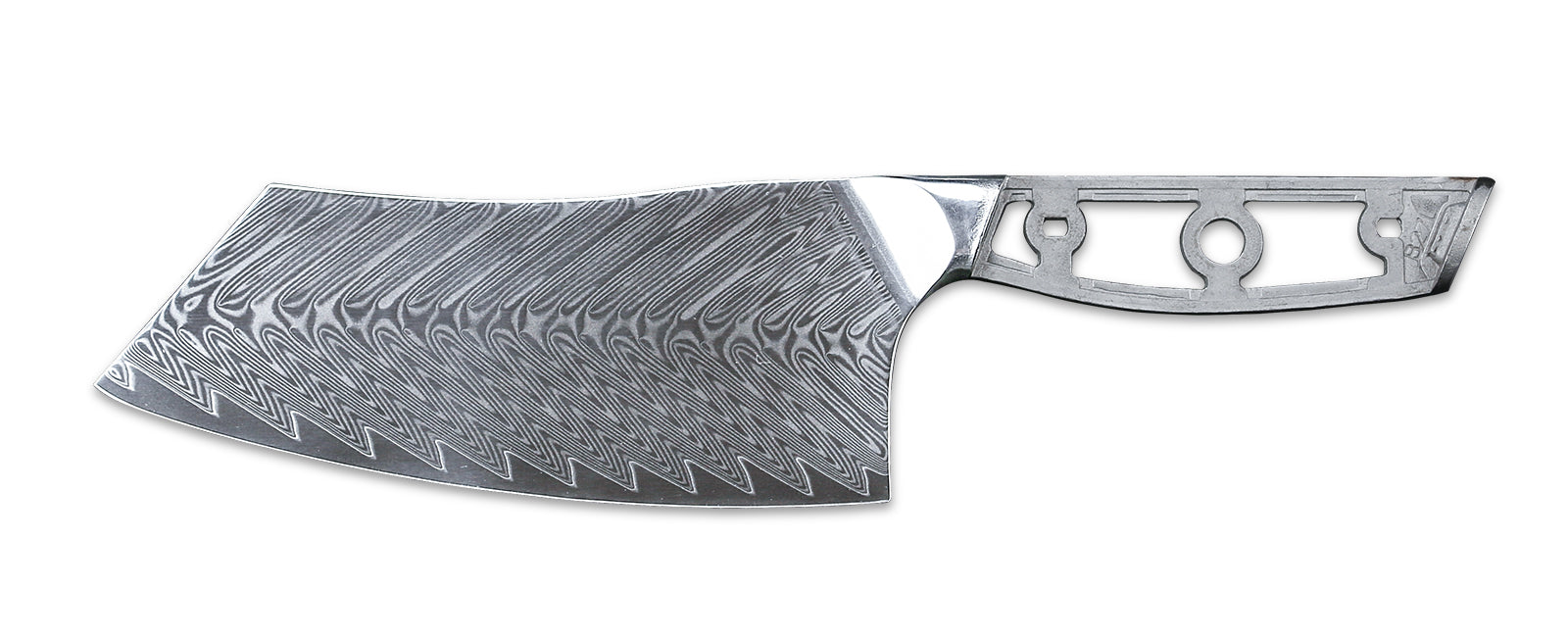 The tall blade of the Chinese Cleaver allows it to be safely guided with the knuckles of your free hand when 'tap chopping', 'push cutting', or 'pull cutting'. Therefore, large fruit and vegetables, such as cabbages, can be cut easily and safely. Just as with the Japanese Nakiri, the heel corner of the Cleaver can be used to remove blemishes from fruit and vegetables. If you love cooking Chinese food, you owe it to yourself to try a Chinese Cleaver!