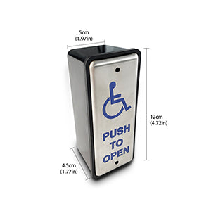 slim stainless steel handicapped push panel