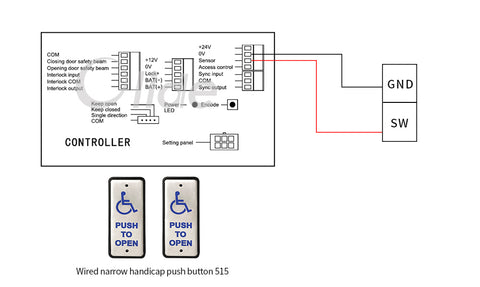 olide-120B wiring diagram with olide-515 slim wired handicapped push button