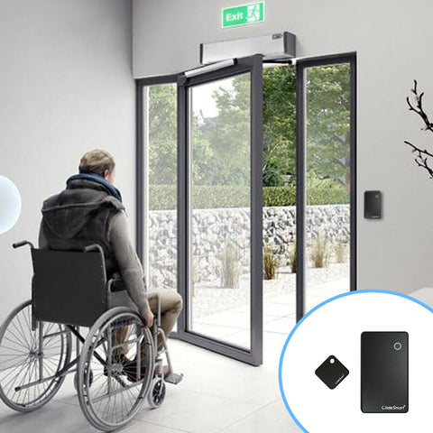 contactless automatic swing door opener with smart tags