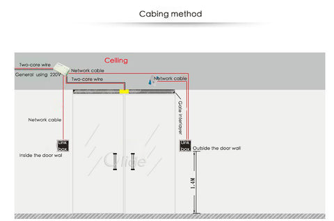 ad-2000M access control keypad cabing method