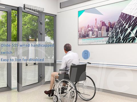 olidesmart ADA automatic swing door with slim handicapped push panel