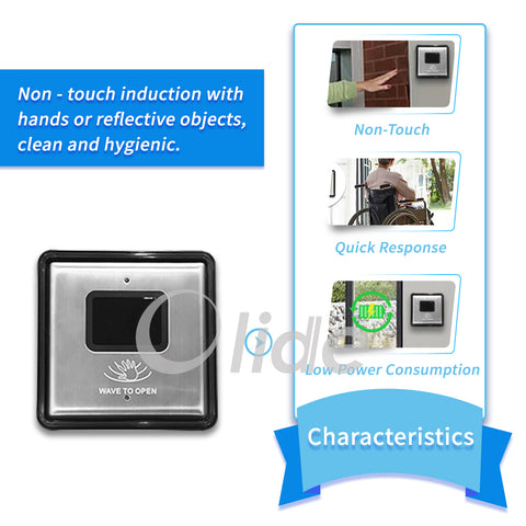 olidesmart touchless switch wave to open