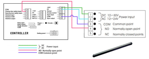 olide-120B wiring diagram with motion top scan sensor