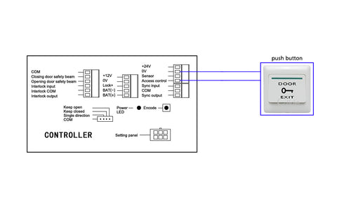 olide-120B wiring diagram with push button
