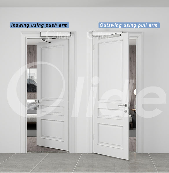 inswing and outswing door are available