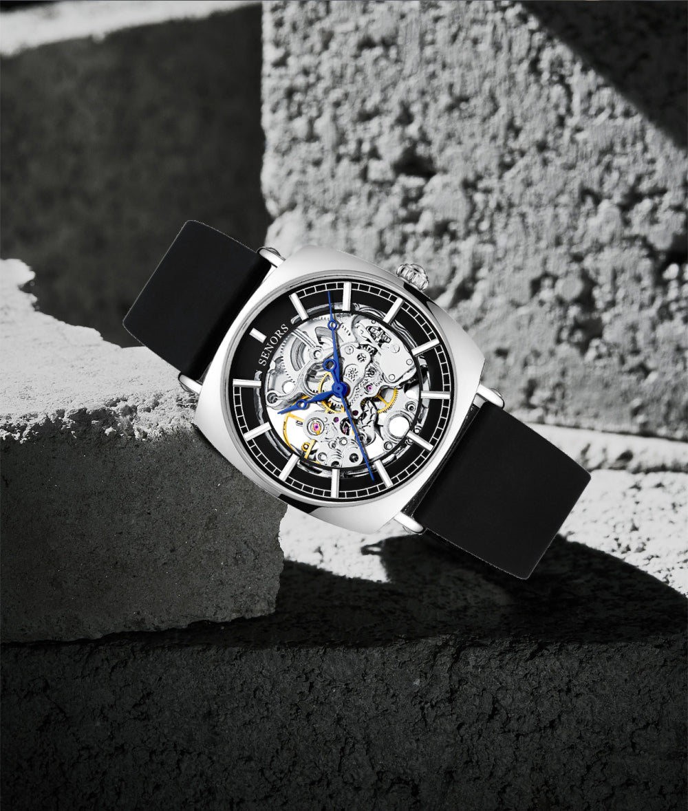watch with see through mechanical