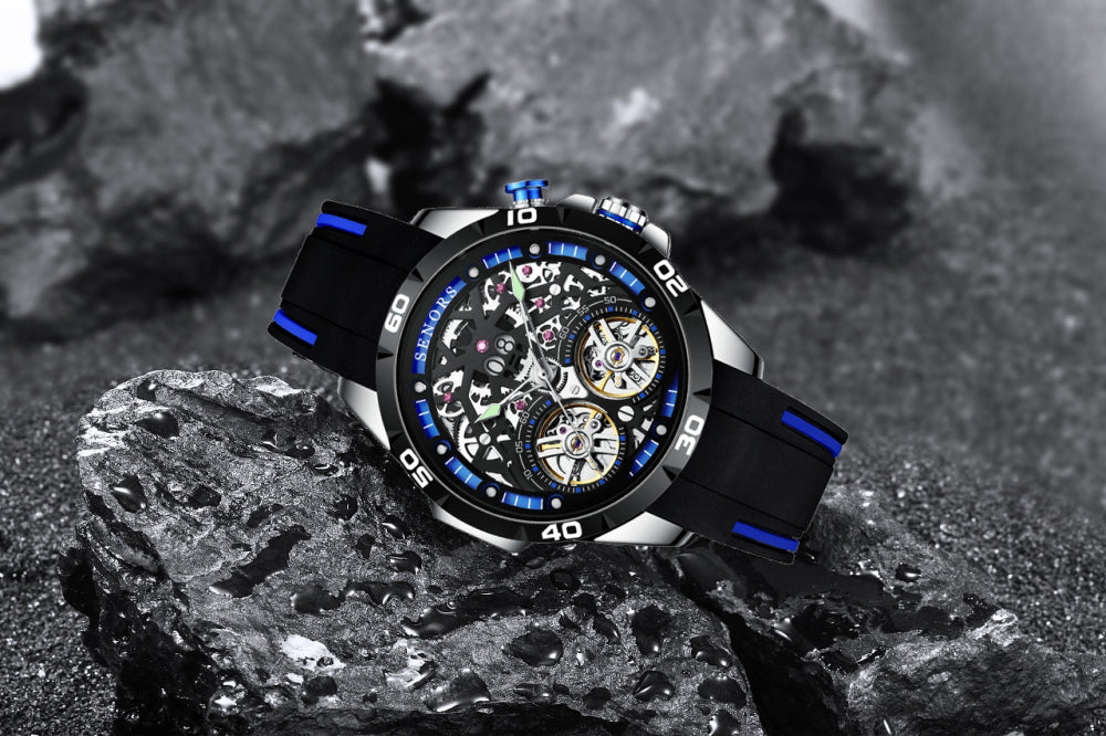 skeleton exposed gear watches