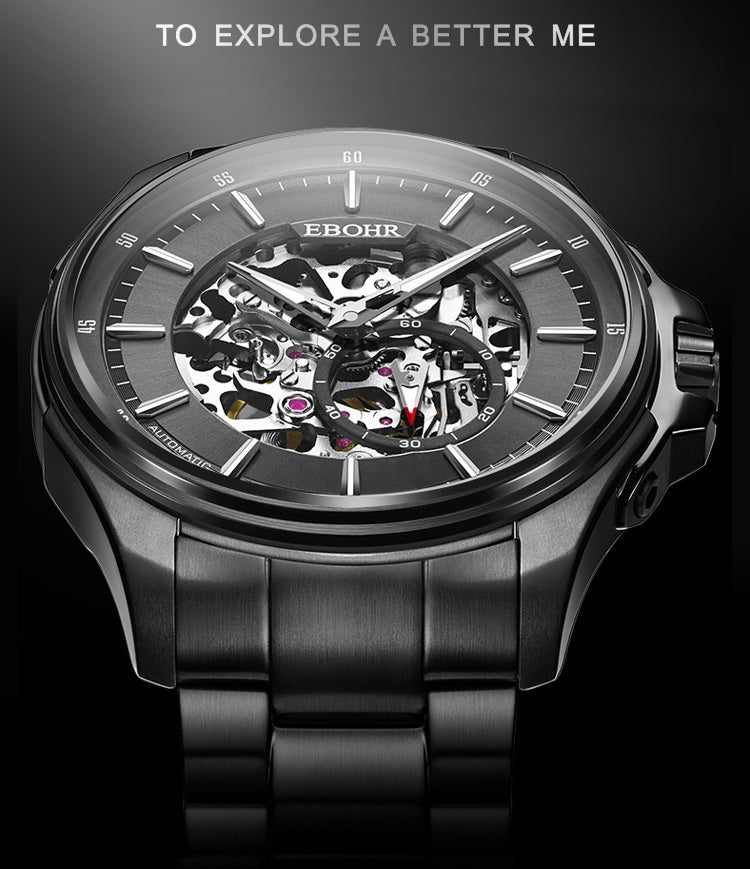mens automatic skeleton watches