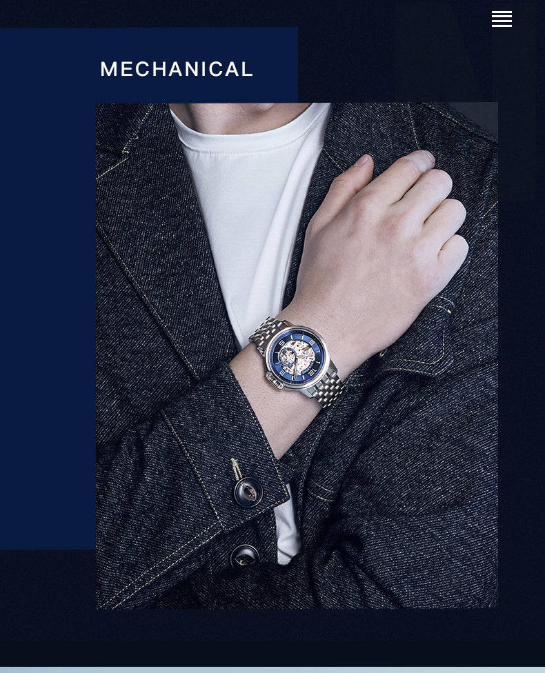 mens watches exposed gears