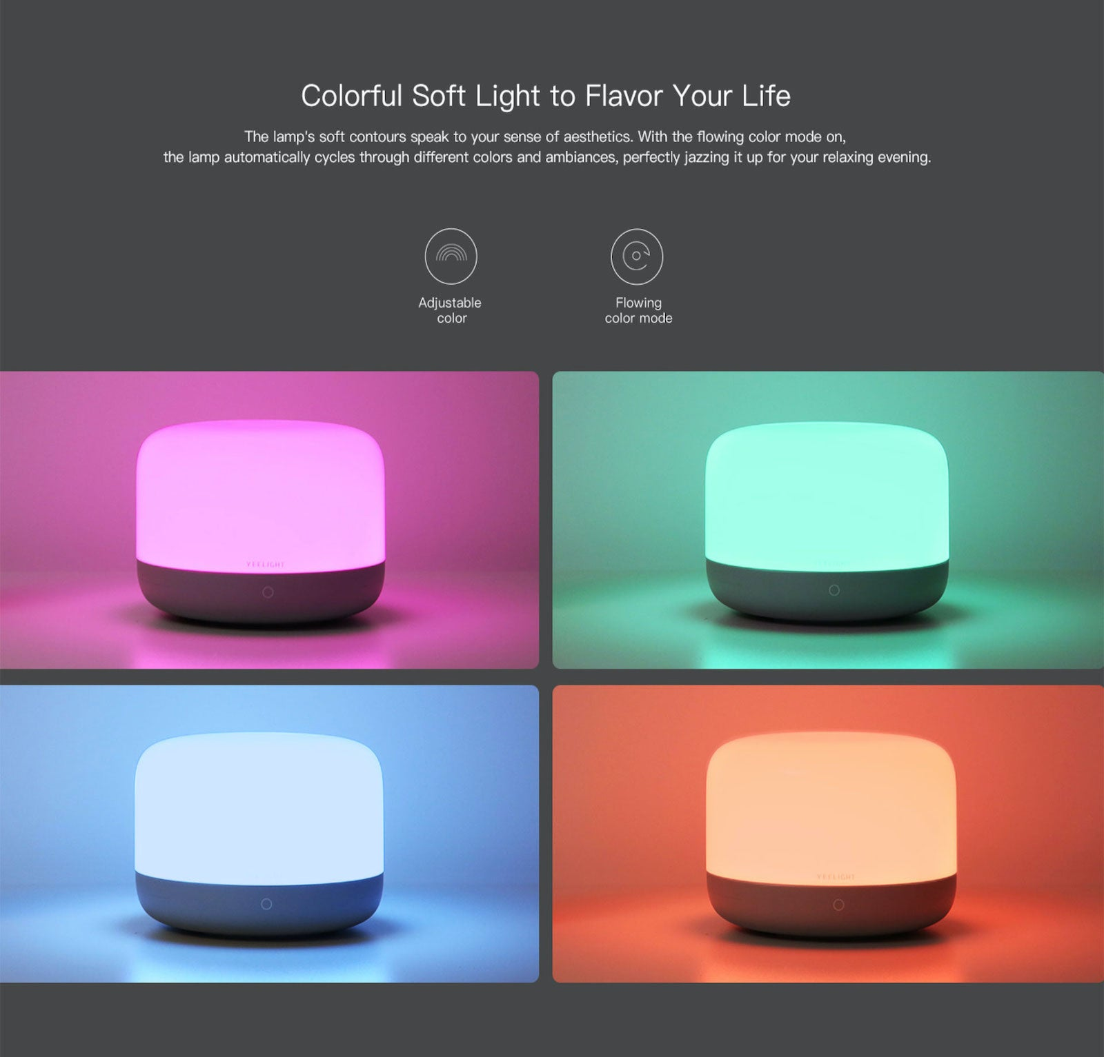 Yeelight LED Bedside Lamp Smart Table Light Homekit Google Voice Control Alexa