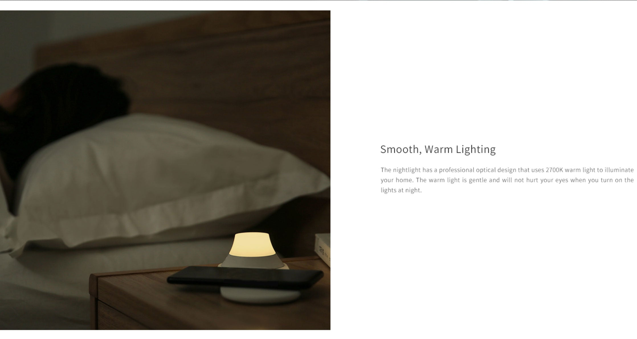Yeelight 2-in-1 Bedside Night Lamp with Wireless Charger