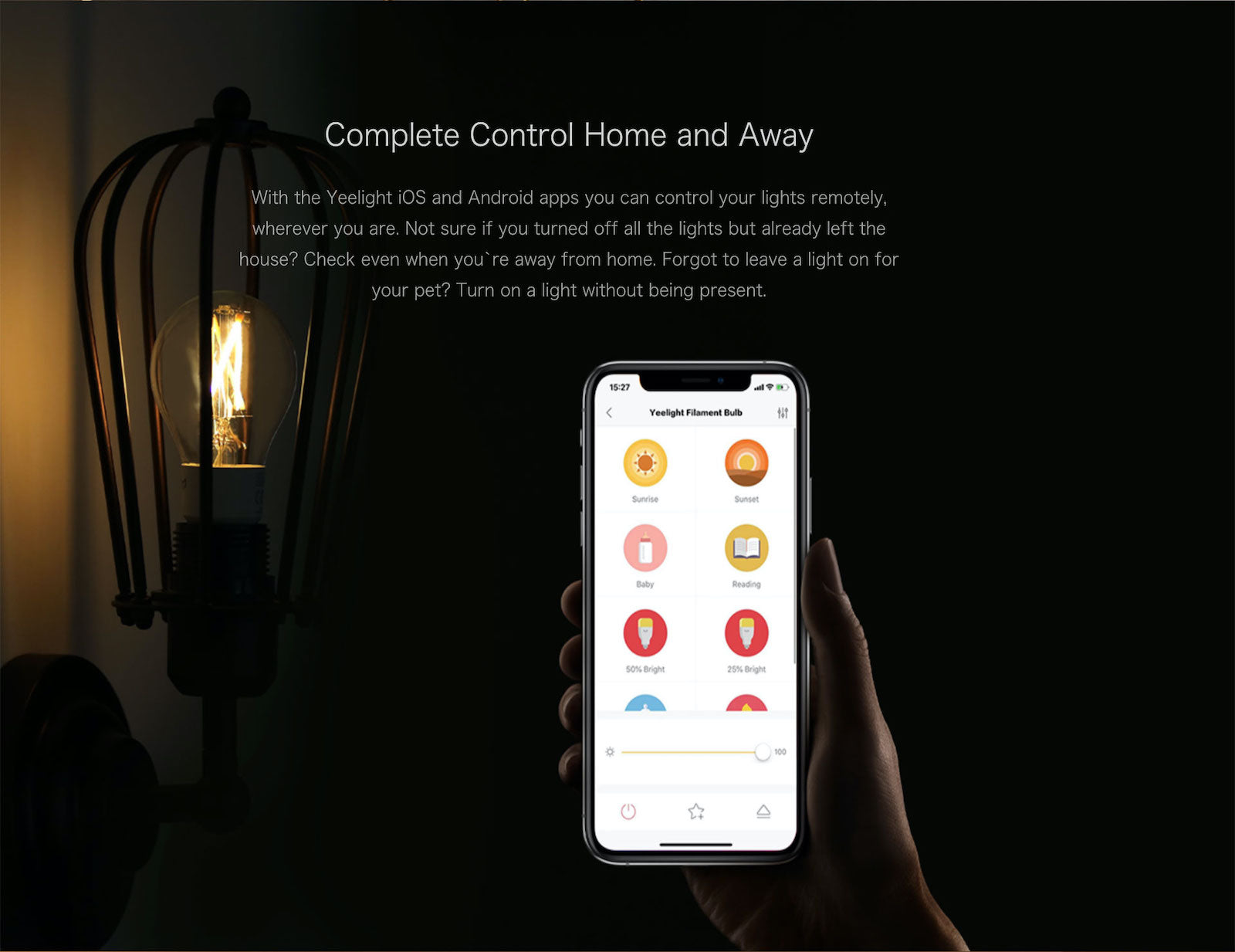Yeelight Smart Retro LED Filament Bulb Edison Lamp Homekit Alexa