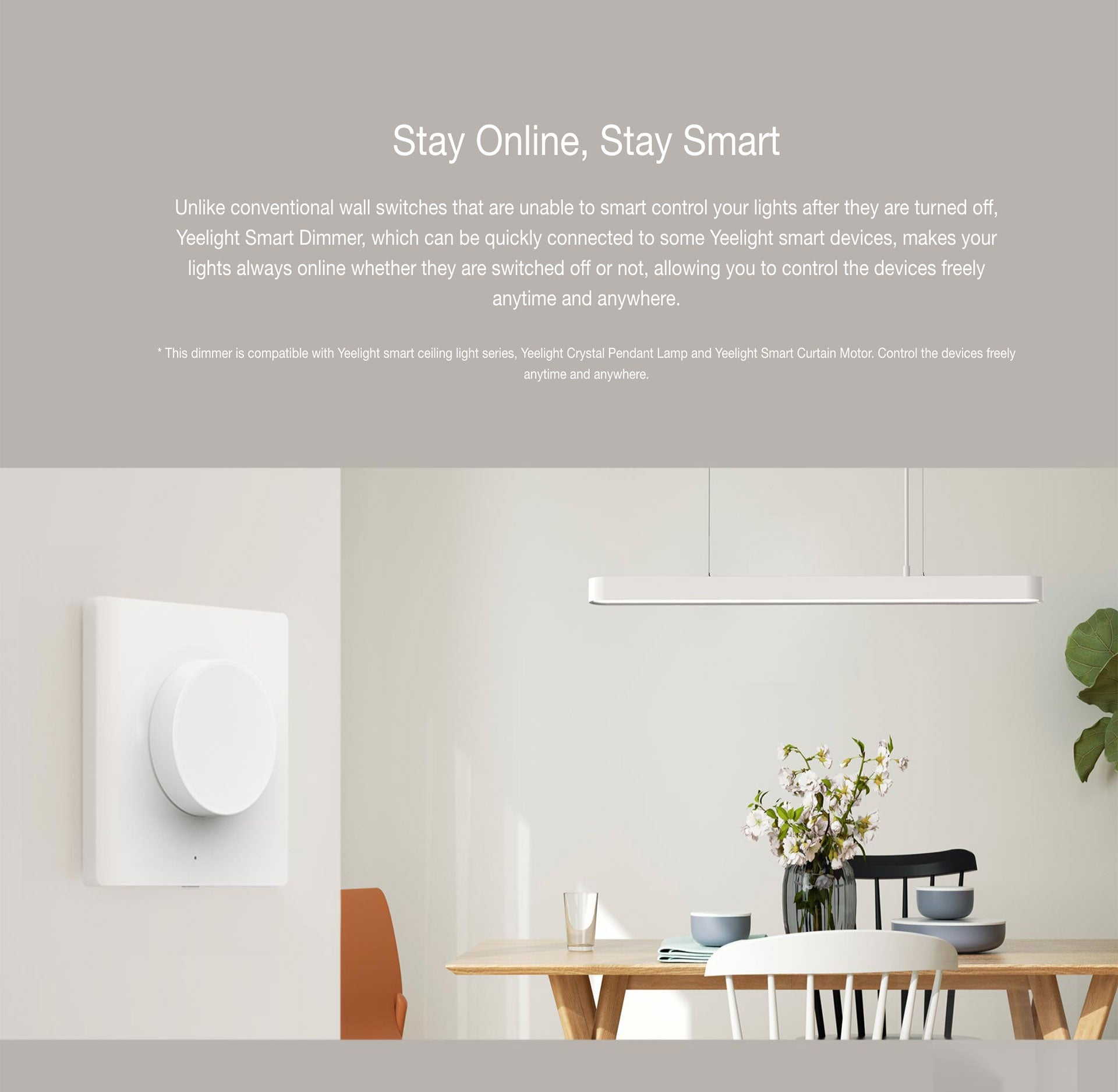 Xiaomi Smart Switch Dimmer Wireless Wall Switch Light For Yeelight Ceiling Light