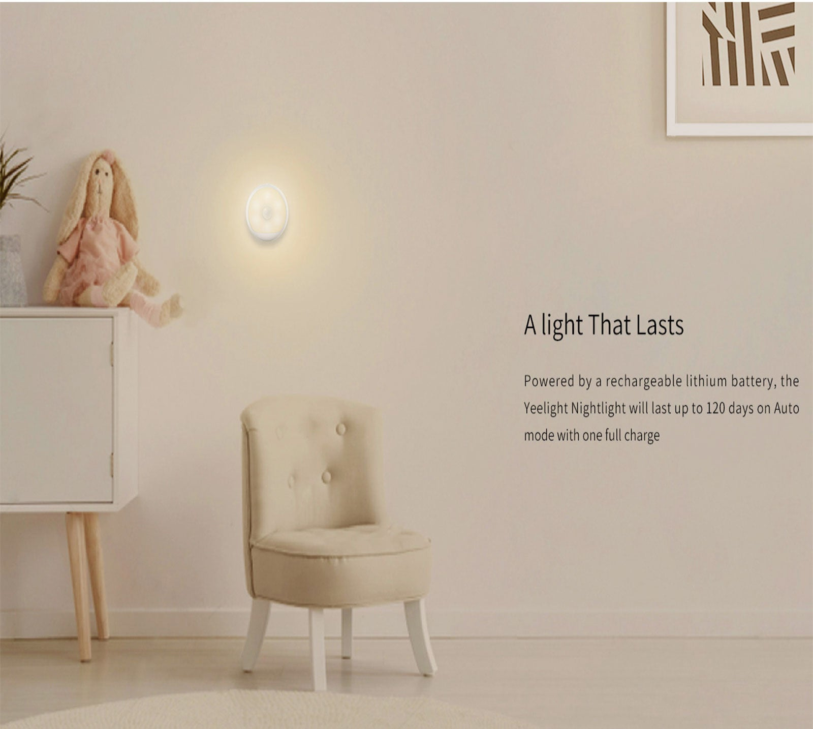Yeelight Xiaomi Smart Motion Sensor LED Night Wireless Rechargeable Lamp