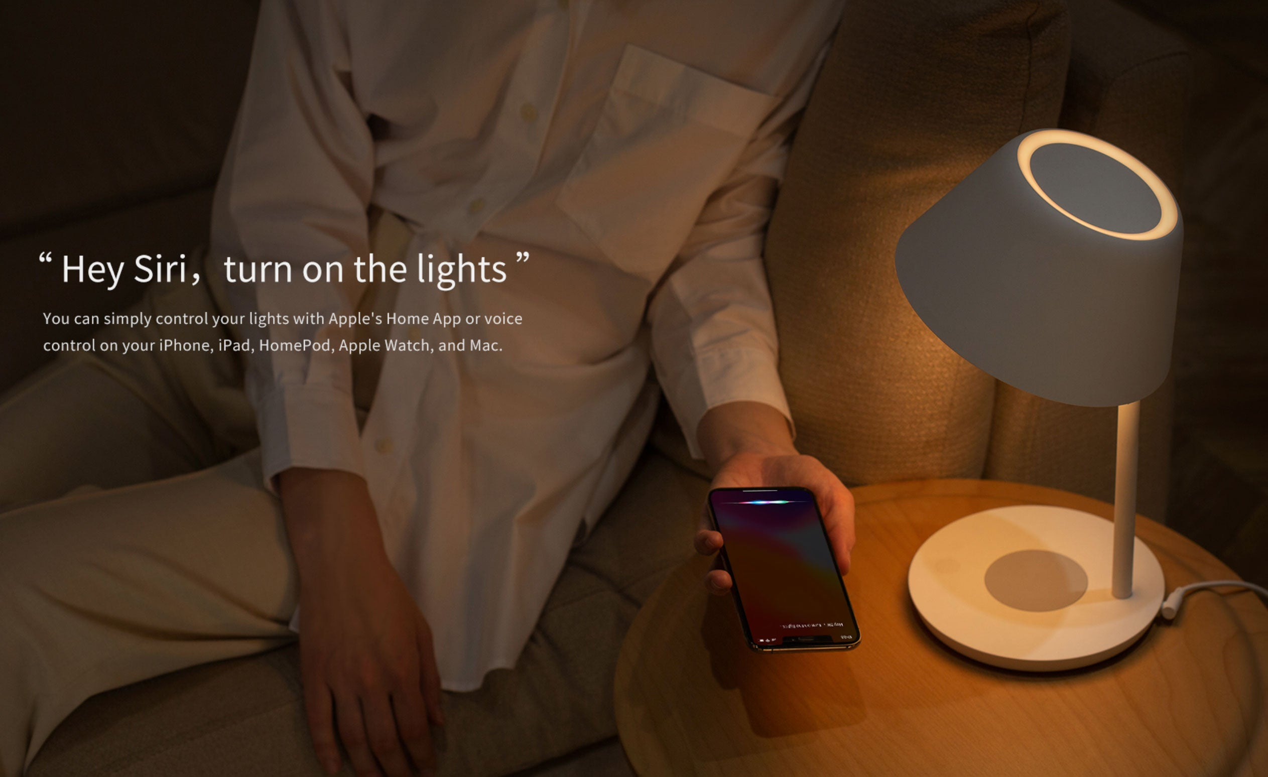 Yeelight Staria Bedside Lamp Night Light Study Desk Lamp Wireless Charger Base