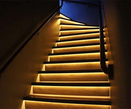 smart led strip in the aisle