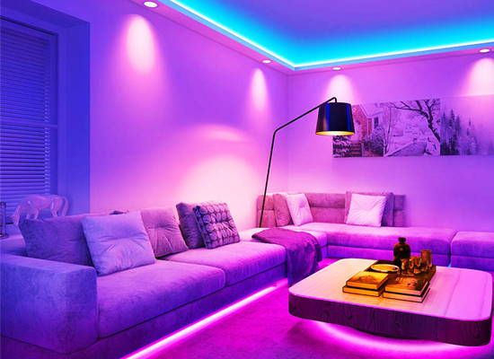 smart led strip in the bedroom