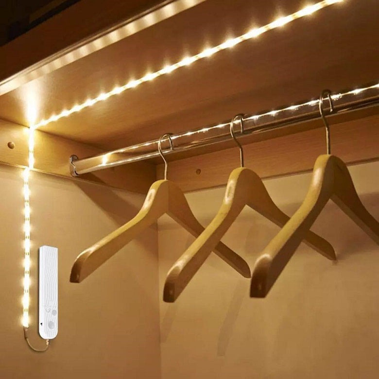 smart led strip in the cloakroom