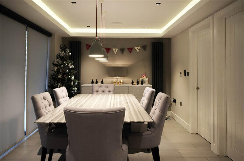 smart led strip in the dining room