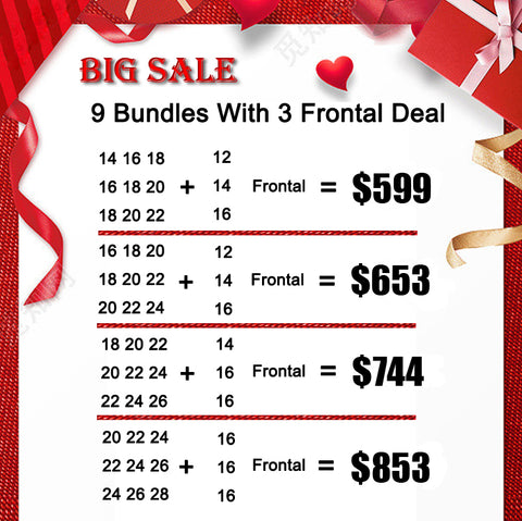 Big Sale 9 Bundles Hair With 3 Frontal Deal