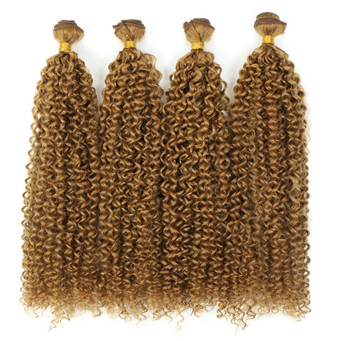 Blonde 3pcs/pack Black 613 Kinky Curly Hair Extensions Fiber Afro Curly Bundles