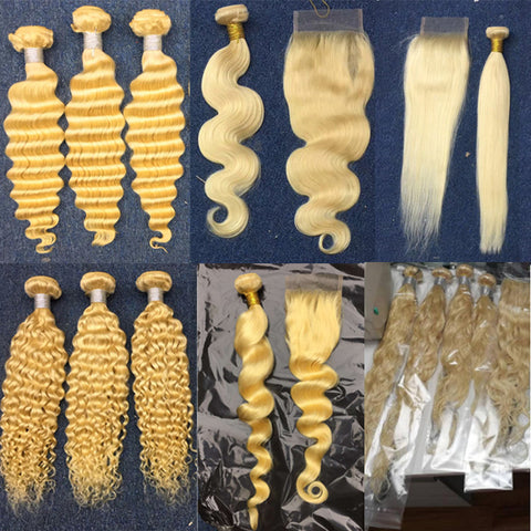 pegasus hair wholesale deals 613 Blonde Bundles with closures Human Hair  Brazilian Remy