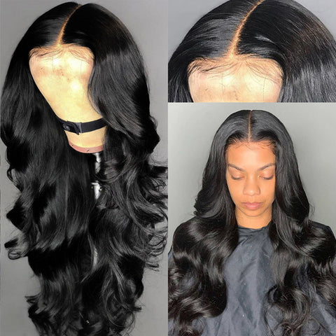 Body Wave Virgin Hair 13x4 13x6 lace frontal Wig  - pegasuswholesale