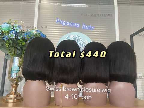 """Brand Name: Pegasus Texture: You Can Choose Any Texture,Note to write detailed textures when placing an order Lace Wig Type:  Lace bob wigs Material Grade: Remy Hair Material: Human Hair Base Material: Swiss Lace Color of Lace: Medium Brown Human Hair Type: Brazilian Hair Lead Time: Hair takes 3-5 days to make Density: 150% Density  5 x 10"""" Bob Wigs Deal Lace Front Wigs 150% density Baby Hair swiss lace Wigs For Black Women Pre Plucked Peruvian Remy Hair 5 x 10"""" Bob Wigs Deal Lace Front Wigs 150% density remy hair swiss lace5 x 10"""" Bob Wigs Deal Lace Front Wigs 150% density Baby Hair swiss lace Wigs For Black Women Pre Plucked Peruvian Remy Hair5 x 10"""" Bob Wigs Deal Lace Front Wigs 150% density Baby Hair swiss lace Wigs For Black Women Pre Plucked Peruvian Remy Hair5 x 10"""" Bob Wigs Deal Lace Front Wigs 150% density Baby Hair swiss lace Wigs For Black Women Pre Plucked Peruvian Remy Hair"""