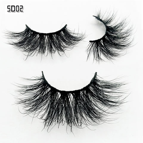 Mink Eyelashes 100% Cruelty free Handmade 5D Mink Lashes Full Strip Lashes Soft False Eyelashes Makeup Lashes