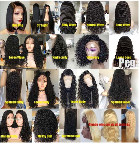 4 Wigs Transparent Lace Frontal Wig $850 Deal