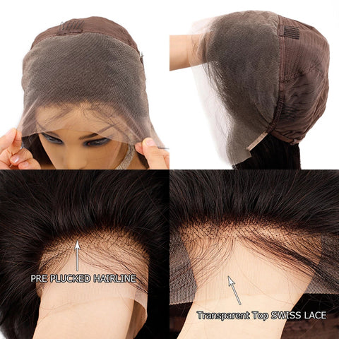 13x4 Transparent Lace Front Wig Loose Wave Human Hair Wig Brazilian Remy Hair frontal Wigs 150% 180% Density 4x4 5x5 Lace Closure Human Hair Wigs