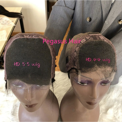 4x4 5x5 13x4 Lace Front Human Hair Wig For Black Women Curly HD Lace Front Wig Human Hair Frontal Closure Lace Wig Wavy 150% 180% Density Invisible lace