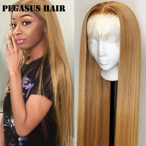 #27 Color Lace Frontal Closure Wig Straight Brazilian Human Hair