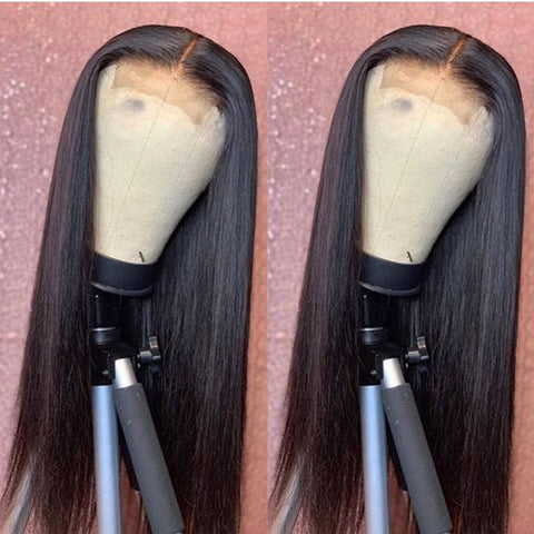 Straight Lace Human Hair Wigs Pre Plucked Remy Brazilian 4X4 Lace Closure Wigs 10- 32inch Human Hair Lace Wig 150% 180% density