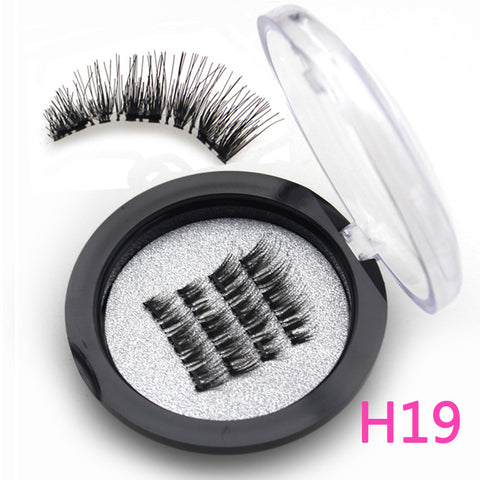 Magnetic eyelashes with 3 magnets handmade 3D magnetic lashes natural false eyelashes magnet lashes with gift box