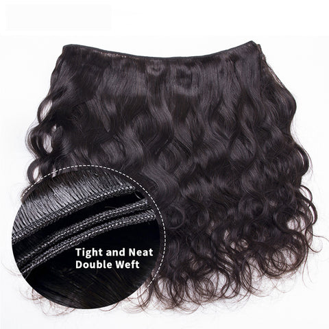 """Pegasus Brazilian Body Wave Bundles With 4x4"""" Closure 30 40 Inch Remy Human Hair Extensions 9A Grade Double Weft Medium Brown Swiss Lace"""