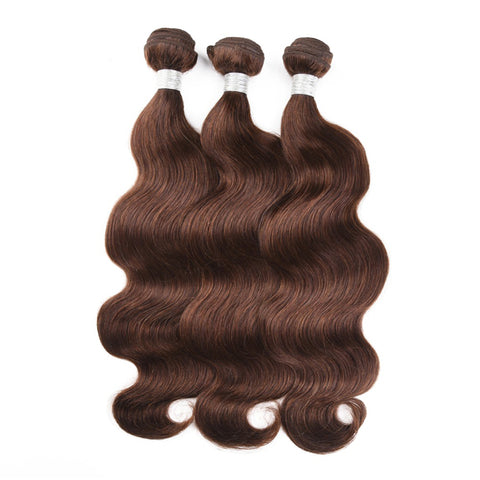 Brazilian Hair Bundles 3/4 Piece #4 Brazilian Body Wave Remy Hair Weft Human Hair Weave Bundles 8-40 Inches Available